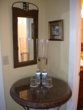 Centennial House Bed and Breakfast: check out the little fish (behind the bottles of water)