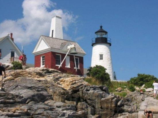 Pemaquid Point Light in Bristol, Maine. Built in 1827