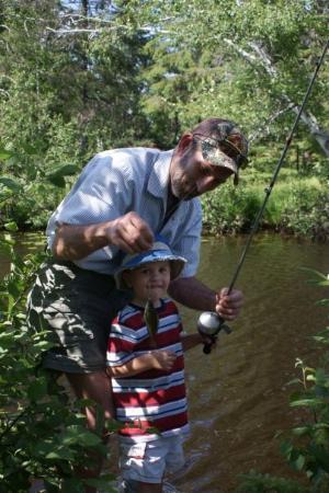 Eagle River, WI: Connor's 3rd fish