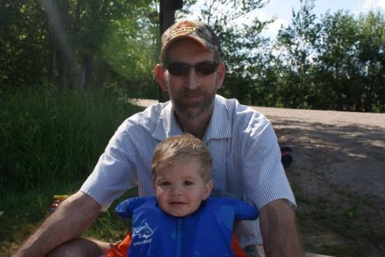 Eagle River, WI: Grandpa and Garrett