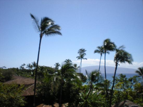 """Royal Lahaina Resort: view from our """"garden view"""" tower room (4th floor)"""