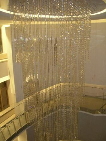 This is a Swarovski Crystal chandelier in the Rockefeller Center.... made of 6500 hand cut cryst
