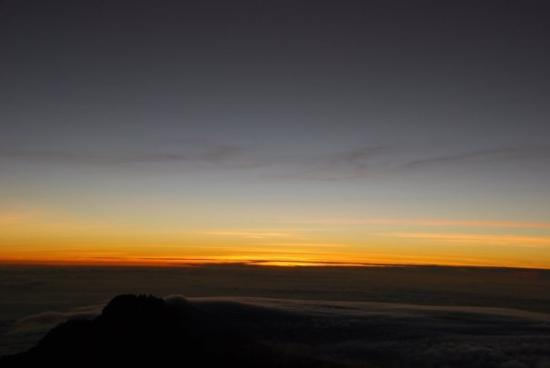 Mount Kilimanjaro: sun rise on Uhuru Peak on Australia Day 2009