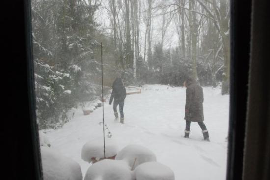 Overijse, Belgia: ออกไปทำไรกัน หิมะขนาดนี้