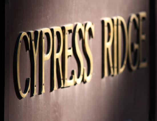 Cypress Ridge Cottages: Cypress Ridge Sign