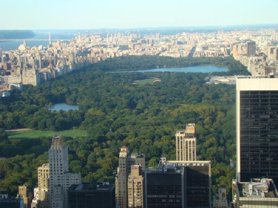 'Top of the rock' utsiktspost, Rockefeller New York: central park from the top