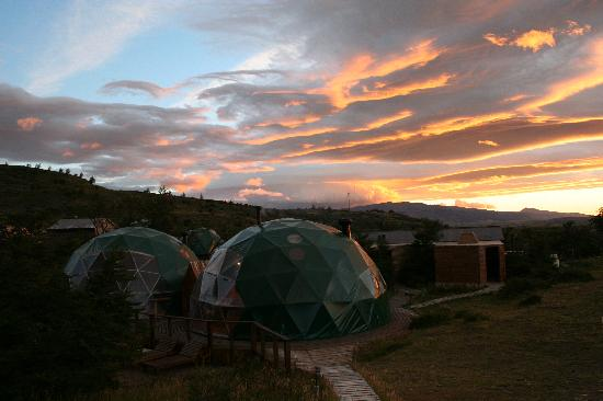 Ecocamp Patagonia: Sunrise over camp