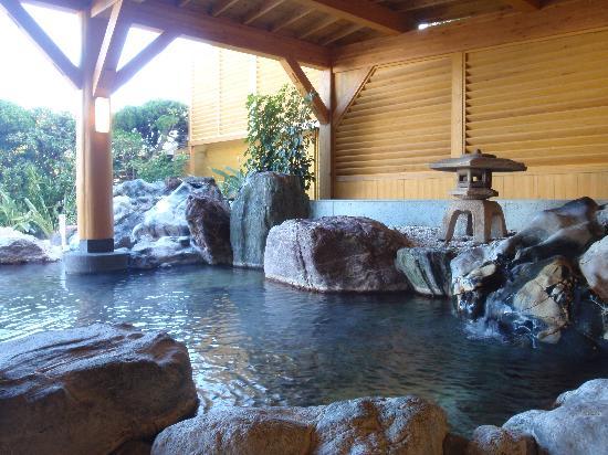 Hotel Izukyu: 伊豆半島一と言われている露天風呂です。
