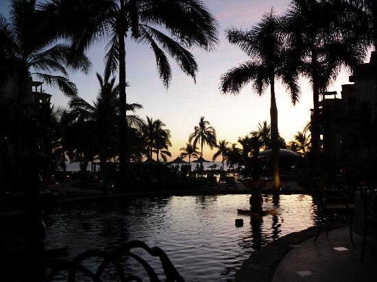 Villa La Estancia Beach Resort & Spa Riviera Nayarit: From our dinner table at La Casona