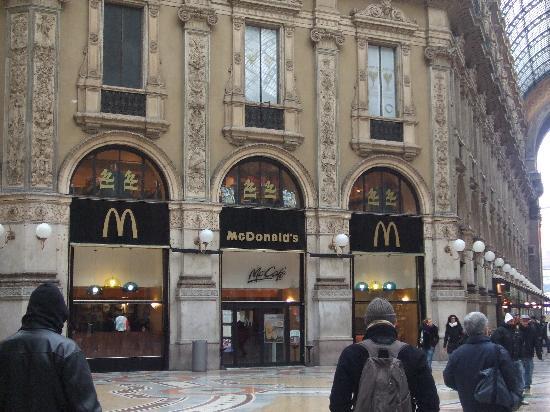 Galleria Vittorio Emanuele II: マックもおしゃれ