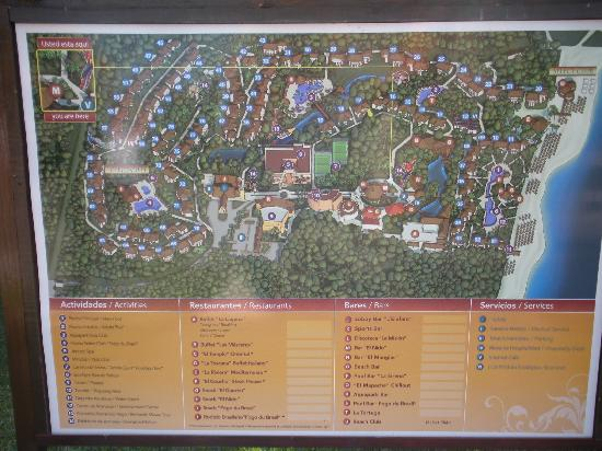 Sandos Caracol Eco Resort: Resort map