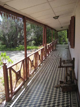 El Pedral: front porch of guest wing