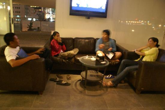 Canyon Boutique Hotel: hanging out and having coffee at the 5th floor of canyon