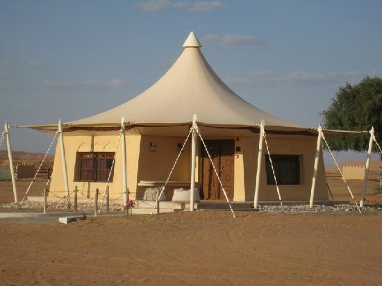 Desert Nights Camp: Our Tent & it really is a canvas tent