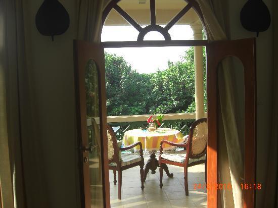 Shangri-Lanka Villa: View of balcony from the room
