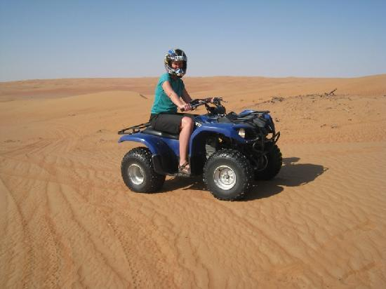 Desert Nights Camp: Cynthia enjoying Quad biking