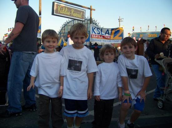 Shreveport, LA: Ayden, Myles, Ryder and Reece in their Brande Tee's