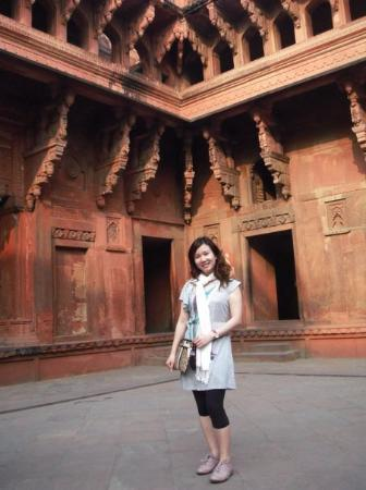 stunning corner in Agra Fort