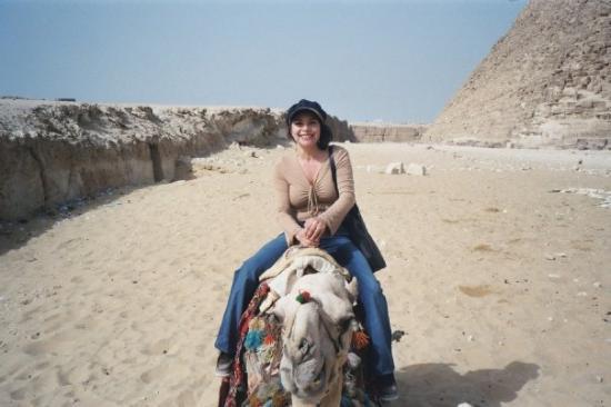 Giza, Egypt: mom on camel