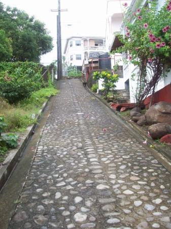 St. George's, Grenada: this picture does not show how steep this hill is!! omg try walking down it in sandals...bad ide