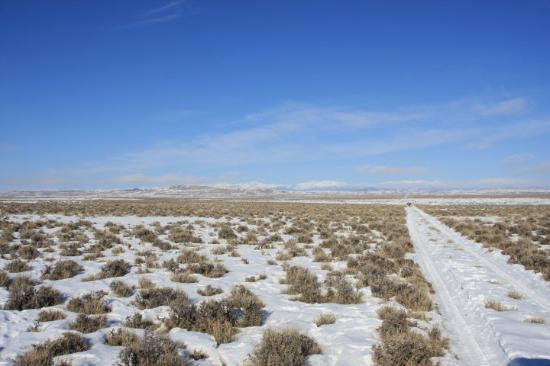 Eden, WY: wide open land, Wind River Mountains in the far back