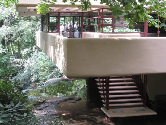 Ohiopyle, PA: View of the balcony @ Fallingwater.