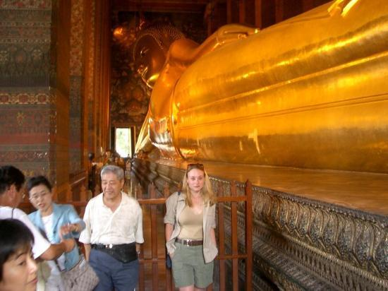 Wat Pho-tempelet: The reclining Buddha