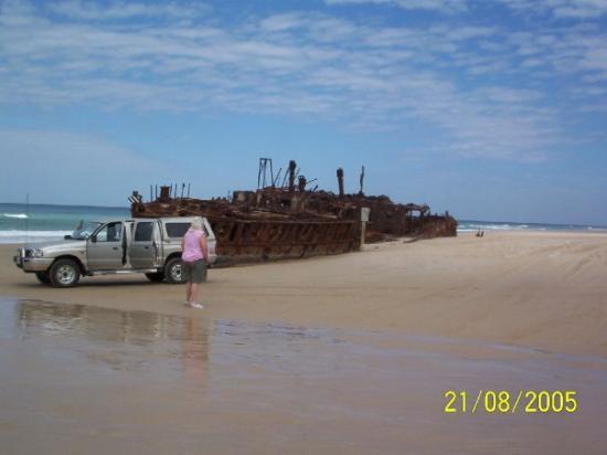 Fraser Island, Australia: Ship wreck on the beach at Frazer Island (the largest sand island in the world), Queensland