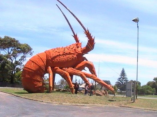 Kingston SE, Australie : The big Lobster, Kingston, Sth Aust, Australia.We have a lot of statues around Aus of big thin