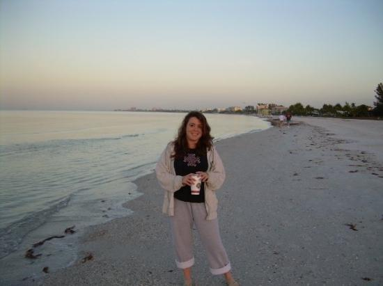 Fort Myers, FL: me on the beach in fla feb 08