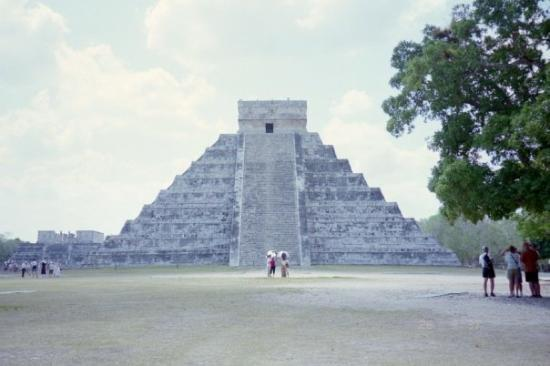 One of my many shots of the central temple at Chichen Itza.