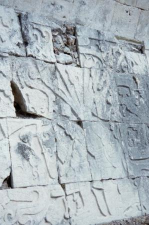 Chichen Itza, Mexico: And more carvings again...This time a better shot of that arterial spray I was talking about.