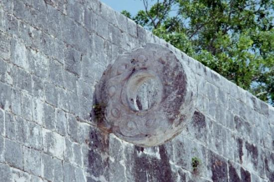 One of the rings in the larges ball court at Chichen Itza.
