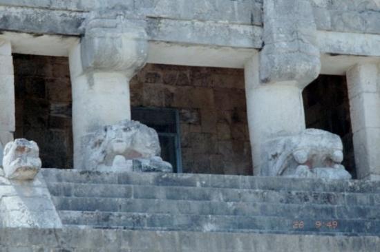 Chichen Itza, Mexico: Close-up of a temple entrance.