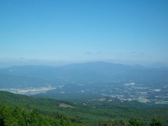 Kagoshima, Japan: Way up top a mountain so far up my ears hurt