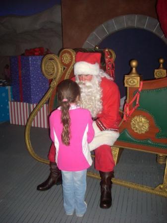 SeaWorld Orlando: Madison with Santa Clause.