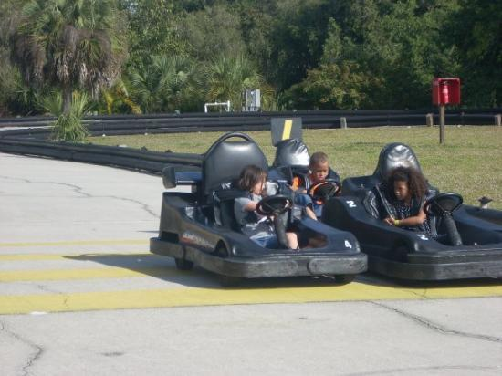Napoli, FL: Madison's first go-kart ride by herself.  They grow up so fast.