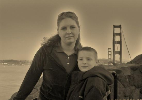 Stephen And I with the golden gate bridge behide us