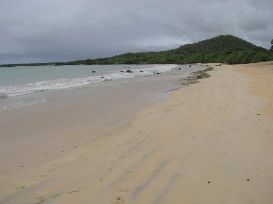 Puerto Ayora, Ecuador: at beach, looking righ, still no one there.... so nice....