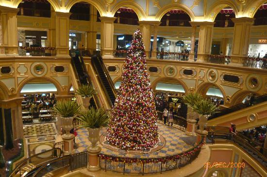 "The Venetian Macao Resort Hotel: one of the many ""grand"" christmas tree"