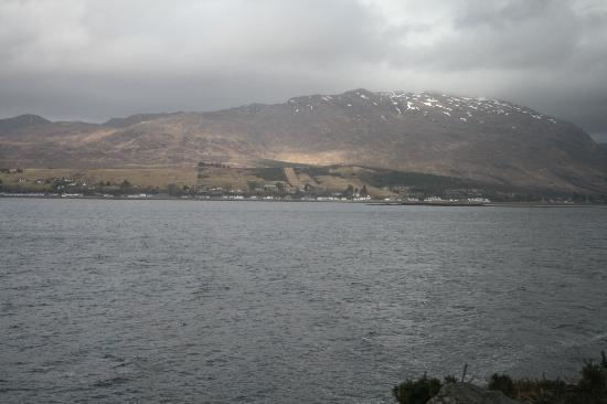 Kyle Line (Inverness to Kyle of Lochalsh): View from train across Loch Carron