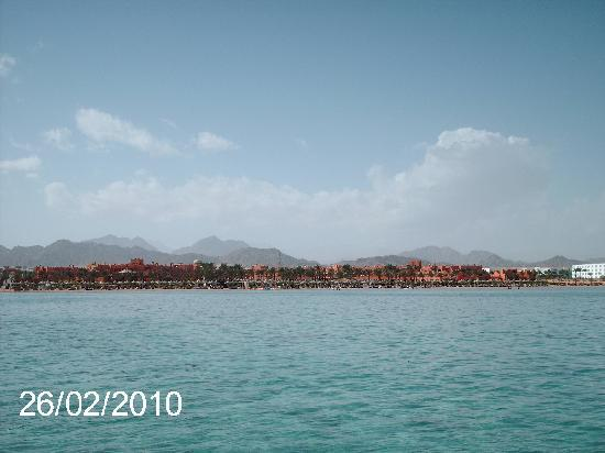 Coral Sea Waterworld Resort: VIEW BACK FROM JETTY