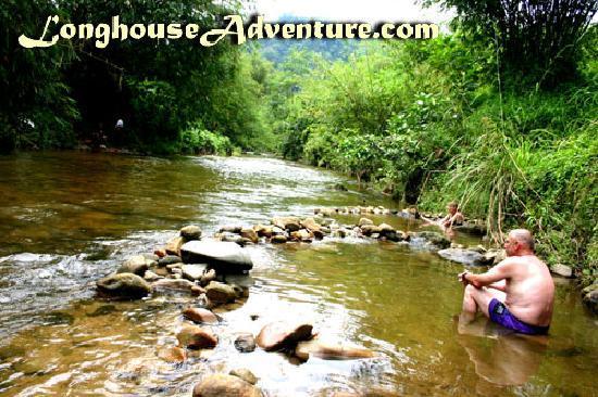 Annah Rais Longhouse Adventure: Clear Water Stream & Hotspring