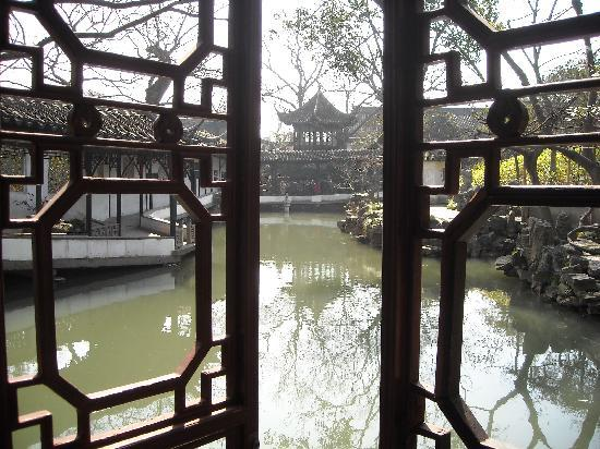 View of lake in Humble Administrator's Garden