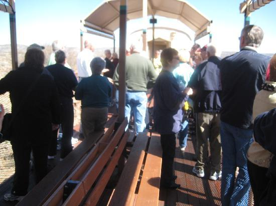 Verde Canyon Railroad: An open-air car