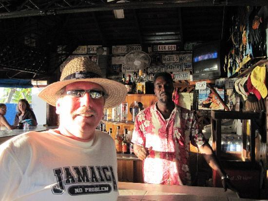 White Sands Negril: me and Paul at White Sands Bar