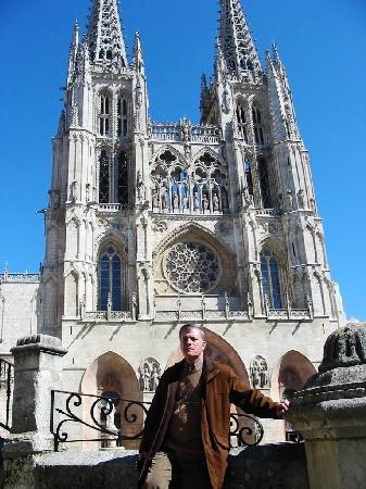 Catedral de Burgos: Con la Catedral de fondo.