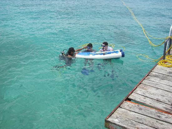 Chankanaab Beach Adventure Park: snuba float - where the air tank is