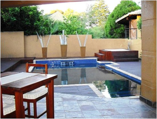 Greater Johannesburg, Sør-Afrika: View from the outside dining area
