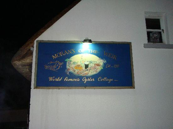 Morans Oyster Cottage: Their sign